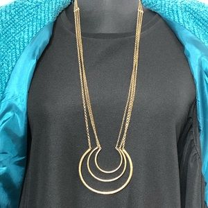 Lucky Brand Gold Three Crescents Necklace